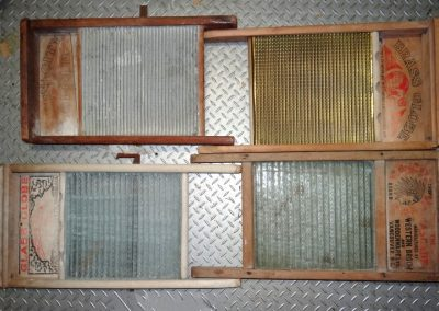 Lot-213 4 full size washboards