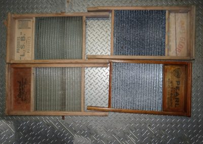 Lot-214 4 full size washboards