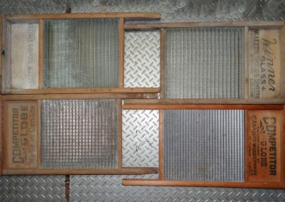 Lot-215 4 full size washboards