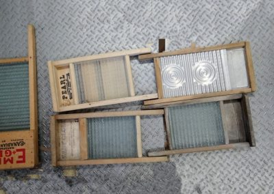 Lot-225 4 small washboards