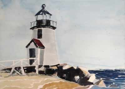 Lot-632 Light House Natucket by A.J Archibald 14x16
