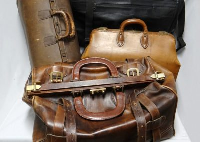 Misc vintage leather luggage