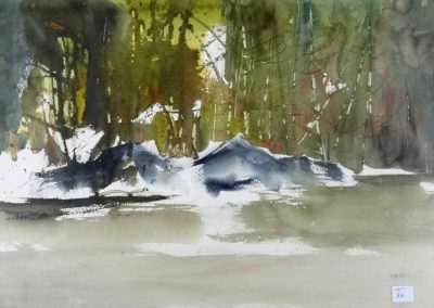Lot-022 Spring Pond by Scott Croft wc 15x22