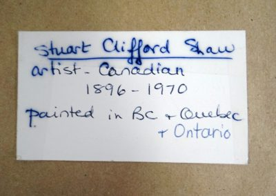 Lot-087 Stuart Clifford Shaw ob 8x10 (2)
