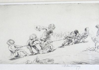 Lot-098 Eileen Soper etching 4.5x7