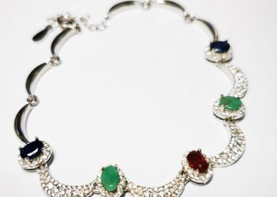 Lot-186 sterling ruby,sapphire, emeralds (3)